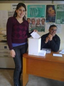 La juventud votando en General Alvarado