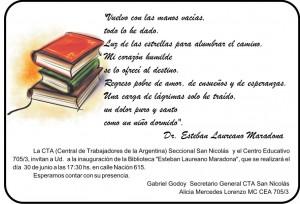 INVITACION BIBLIOTECA